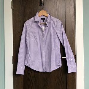 J. Crew Perfect Shirt - Lavender Stripe NWT